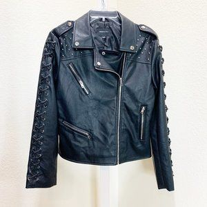 Members Only Faux Leather Moto Jacket  903